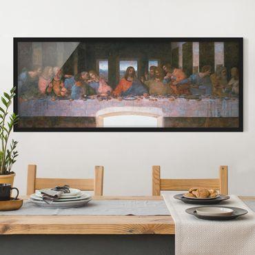 Poster con cornice - Leonardo Da Vinci - L'Ultima Cena - Panorama formato orizzontale