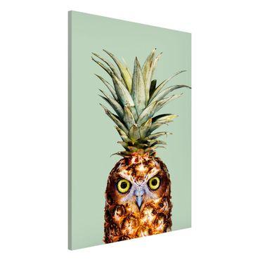 Lavagna magnetica - Ananas con civetta - Formato verticale 2:3