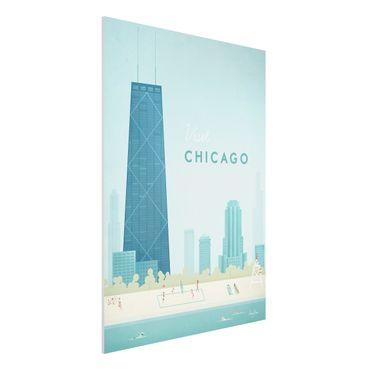 Stampa su Forex - Poster viaggio - Chicago - Verticale 4:3