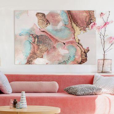 Quadri su tela - Oro Acquerello Rosé