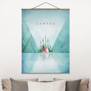 Foto su tessuto da parete con bastone - Poster di viaggio - Canada - Verticale 4:3