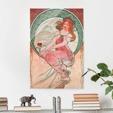 Quadro in vetro - Alfons Mucha - Quattro arti - Pittura - Verticale 3:2
