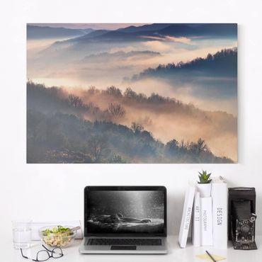 Stampa su tela - Nebbia al tramonto - Orizzontale 3:2