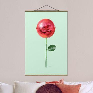 Foto su tessuto da parete con bastone - Rose Con Il Lollipop - Verticale 3:2
