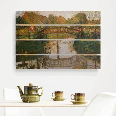 Stampa su legno - Otto Modersohn - Cottage Garden Con Ponte - Orizzontale 2:3