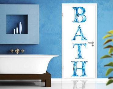 "Carta da parati per porte no.52 ""BATH"" 100x210cm"