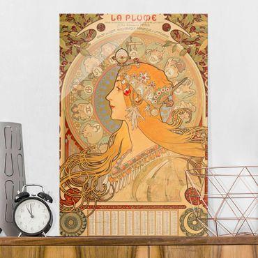 Quadro in vetro - Alfons Mucha - Segni dello zodiaco - Verticale 3:2