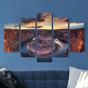 Stampa su tela 5 parti - Colorado River Glen Canyon
