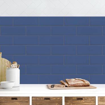 Rivestimento cucina - Mattonelle in ceramica blu scuro