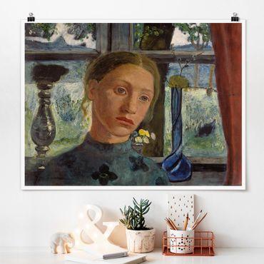 Poster - Paula Modersohn-Becker - Caposcuola davanti alla finestra - Orizzontale 3:4