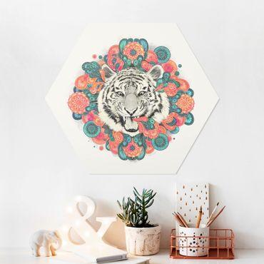 Esagono in forex - Illustrazione Tiger disegno Mandala Paisley