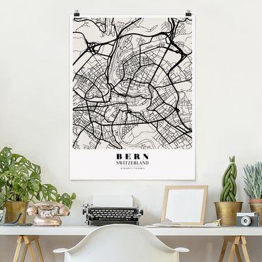 Poster - Mappa Bern - Classica - Verticale 4:3
