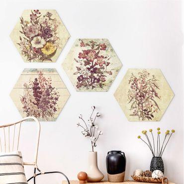Esagono in forex - Collezione Vintage Floral
