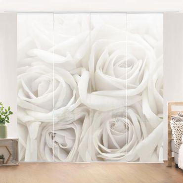 Tende scorrevoli set - White Roses