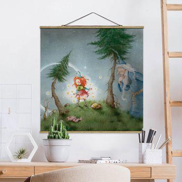 Foto su tessuto da parete con bastone - Frida imposta la stella libera - Quadrato 1:1