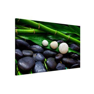 Lavagna magnetica - Verde bambù con Pietre Zen - Formato orizzontale 3:2