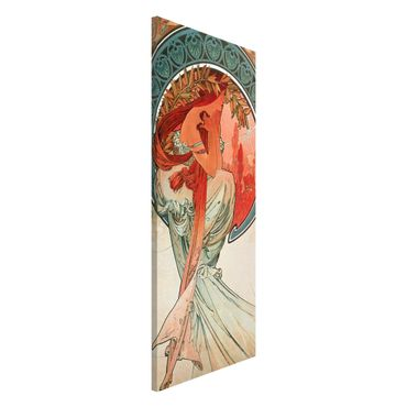 Lavagna magnetica - Alfons Mucha - Quattro arti - Poesia - Panorama formato verticale