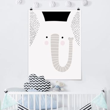 Poster - Zoo con Patterns - Elephant - Verticale 4:3