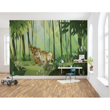Carta da parati per bambini - Lion King Love - Komar fotomurale