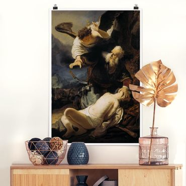 Poster - Rembrandt van Rijn - Il sacrificio di Isacco - Verticale 3:2