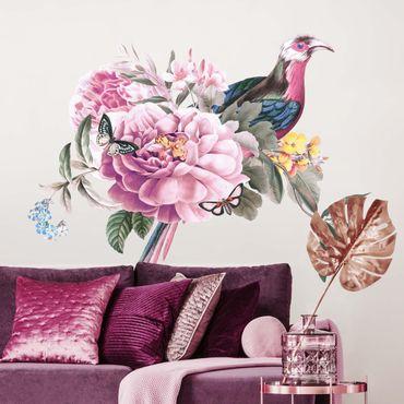 Adesivo murale - Vintage Illustrazione di uccello del paradiso XXL