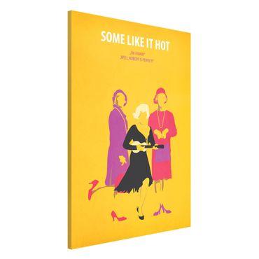 Lavagna magnetica - Poster di film A qualcuno piace caldo - Formato verticale 2:3