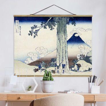 Foto su tessuto da parete con bastone - Katsushika Hokusai - Mishima Pass Kai Provincia - Orizzontale 3:4