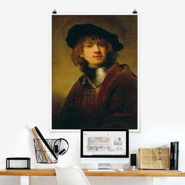 Poster - Rembrandt van Rijn - Self-Portrait - Verticale 4:3
