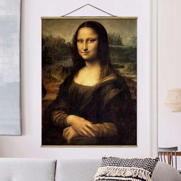 Foto su tessuto da parete con bastone - Leonardo Da Vinci - Monna Lisa - Verticale 4:3