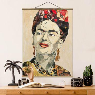 Foto su tessuto da parete con bastone - Frida Kahlo - Collage No.2 - Verticale 4:3