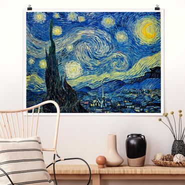 Poster - Vincent Van Gogh - Notte stellata - Orizzontale 3:4