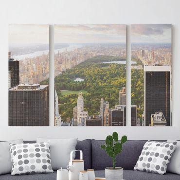 Stampa su tela 3 parti - Overlooks Central Park - Trittico