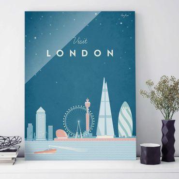 Quadro in vetro - Poster Viaggio - Londra - Verticale 4:3