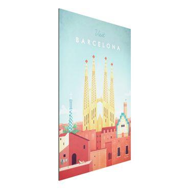 Stampa su alluminio - Poster viaggio - Barcellona - Verticale 3:2