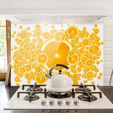 Paraschizzi in vetro - Retro Orange Pattern