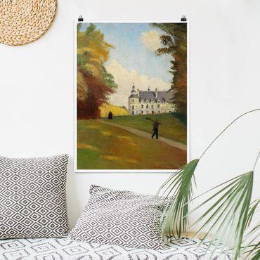 Poster - Emile Bernard - Al Castello di Tanlay - Verticale 4:3