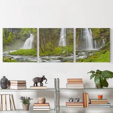 Stampa su tela - Waterfalls Cascade De Flumen - Quadrato 1:1