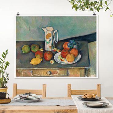 Poster - Paul Cézanne - Still Life Bricco del latte - Orizzontale 3:4