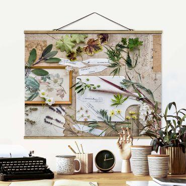 Foto su tessuto da parete con bastone - Fiori E Garden Erbe Vintage - Orizzontale 3:4