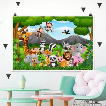 Poster - Selvaggi animali della giungla - Orizzontale 2:3