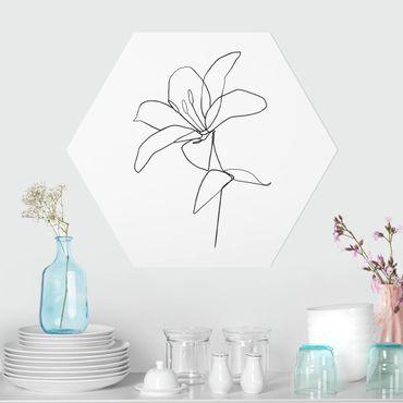 Esagono in forex - Fiore Line Art Nero Bianco