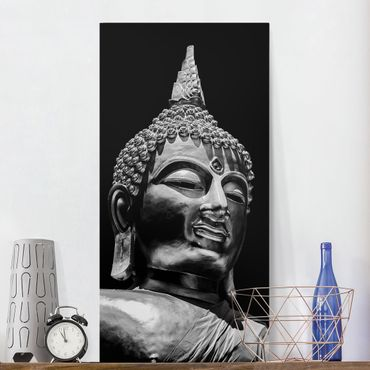 Stampa su tela - Buddha Statue Viso - Verticale 2:1