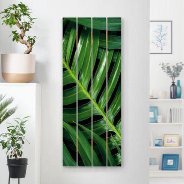 Stampa su legno - Tropical Leaves Philodendron - Verticale 5:2