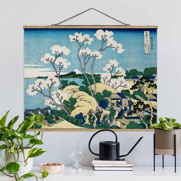 Foto su tessuto da parete con bastone - Katsushika Hokusai - La Fuji Di Gotenyama - Orizzontale 3:4