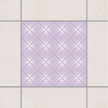 Adesivo per piastrelle - Tender Vintage Caro Lavender 10cm x 10cm