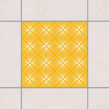 Adesivo per piastrelle - Tender Vintage Caro Melon Yellow 10cm x 10cm