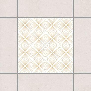 Adesivo per piastrelle - Tender Vintage Caro White Light Brown 10cm x 10cm