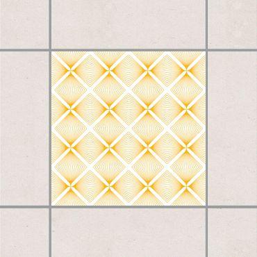 Adesivo per piastrelle - Tender Vintage Caro White Melon Yellow 10cm x 10cm