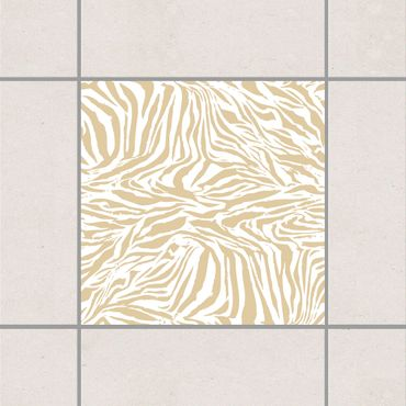 Adesivo per piastrelle - Zebra Design Light Brown 10cm x 10cm