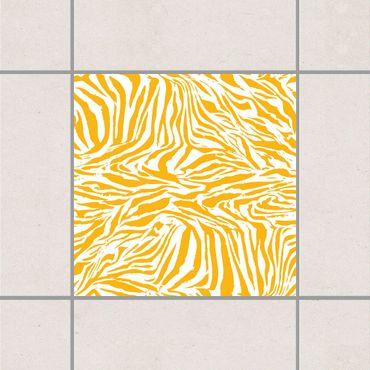 Adesivo per piastrelle - Zebra Design Melon Yellow 10cm x 10cm